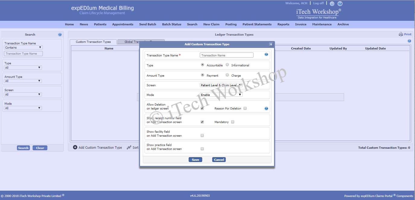 expedium Medical Billing- Edit Operator Screen